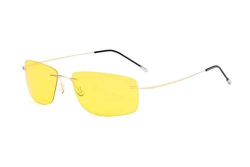 UV400 voyager Femmes soleil Yellow Huyizhi Lunettes cadre lunettes Cool sans de Hommes polarisées soleil protection Lunettes Lunettes de de qwfvSfT