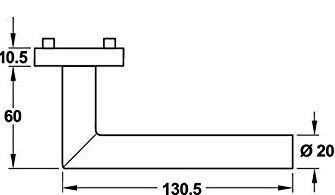 Buntbart T/ürklinke Antik Vintage BB Gedotec Dr/ückergarnitur Edelstahl T/ürbeschlag schwarz matt T/ürgriff Zimmert/ür auf Rund-Rosette Schrauben FI10055 CHAPO 1 Rosetten-Garnitur inkl