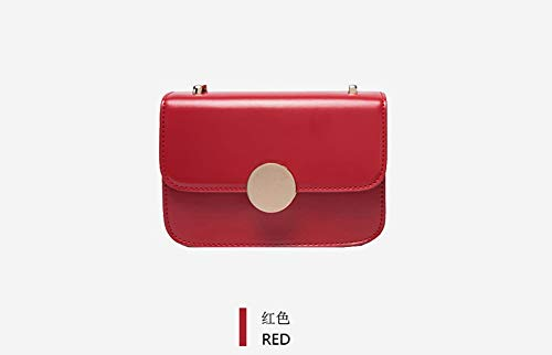 Piccola Selvaggia A Retrò Rossa Quadrata Semplice Femminile Borsa Tracolla Wybbag Diagonale 1n8q7R