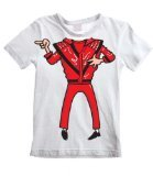 Tribal T-Shirt Big Boys' Michael Jackson Fancy Dress T-Shirt 3-4 Years White