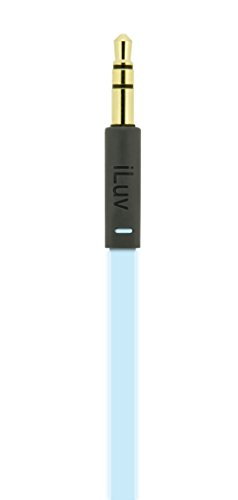 iLuv NEONGLOWBL Neon Glow Earphones for Smartphones, Blue
