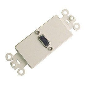 Calrad Electronics 28-161 Nickel Plated High Density DB-15 Feed-Thru Jack Insert ()