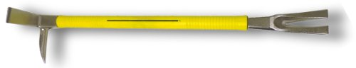 - Nupla 33800 Yellow Nuplaglas Handle Steel Claw and Pry Halligan Tool, 30