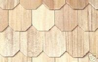 Dollhouse Miniature Unfinished Pine Octagon-Butt Shingles