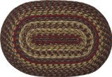 Cinnamon Braided Natural Jute Placemat Country Red Tan Green Brown Primitive Home Décor ()