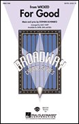 For Good From Wicked (Broadway Choral SATB, Sheet Music)
