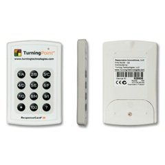 Turning Point Teacher Classroom RCIR-02 Clicker IR ResponseCard System- Set of 32 Clickers from Turning Technologies