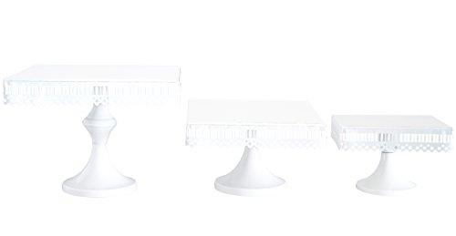 VILAVITA 3-Set Cake Stands Square Cupcake Stands Metal Dessert Display Cake Stand, ()