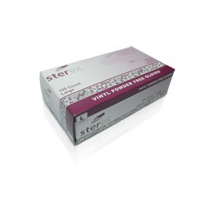 Sterex Brand Vinyl Gloves [Med] 100/bx