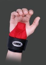 Gym Gloves For Powerlifting, Weight Training, Biking, Cycling - HMK Ring Strap (Red) by SINNAYEO