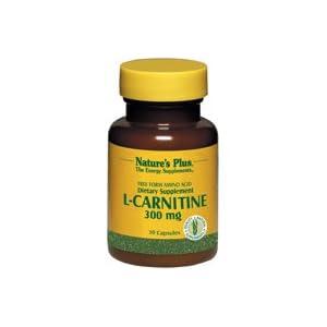 Nature s Plus L Carnitine 300 mg 30 Veggie Caps