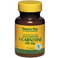 Nature s Plus L Carnitine 300 mg 30 Veggie Caps