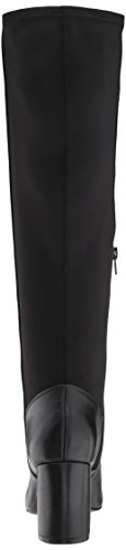 Nine West Women's Knowone Leather Knee High Boot Black/Black Leather NdbSkX