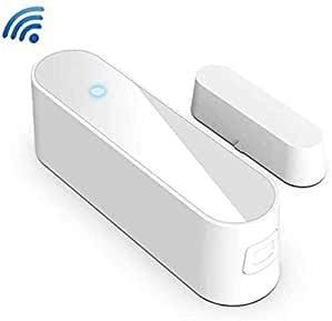 Detector de Puerta Tuya WiFi Detector de Puerta y Ventana Sensor de Apertura Compatible con Alexa Google Home Vida Inteligente Sistema de Alarma de Seguridad