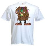 Tribal T-Shirt Men's Tramp Outfit Costume Fancy Dress T-Shirt Large (Mw3 Costumes)