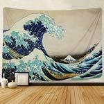 Thursday April Tapiz de Pared Gran Ola de Kanagawa con Decoraciones Caseras de Arte Natural para Sala de Estar Dormitorio Dormitorio Decoraci/ón