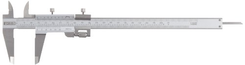 - Fowler 52-058-008 Stainless Steel Fine Adjustment Vernier Caliper with Satin Chrome Finish, 0-8