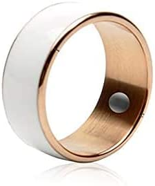 R3F Smart Ring for High Speed NFC Electronics Phone Smart Accessories 3-Proof App Enabled Wearable Technology Magic Ring,Rose Gold,No.9