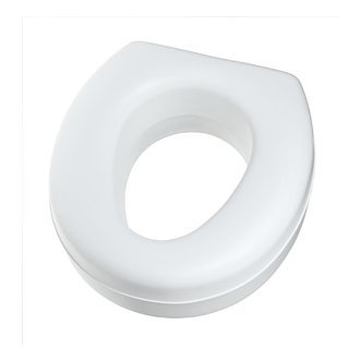 HealthSmart Portable Elevated Toilet Seat Riser, White