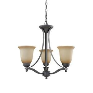 Commercial Electric Rustic Iron 3 Light Pendant