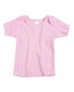 Sleeve Lap Shirt - Rabbit Skins Baby 5 Oz. Baby Rib Lap Shoulder T-Shirt (R3400)- Pink,12 Months