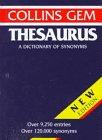 Collins Gem Thesaurus, Eugene Ehrlich, 0062765035