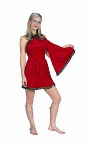 Women Medium (5-7) RED Roman Toga ONLY - Sandals and headpiece not included. (Greek Goddess Sandals)