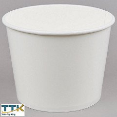 Tabletop king 5 lb. White Disposable Paper Ice Bucket - 25/Pack -
