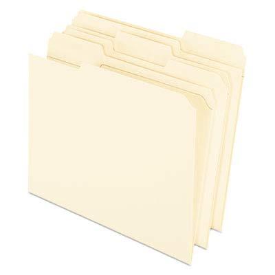 Pendaflex R75213 Reinforced Top Tab File Folders, 11 Point Kraft, 1/3 Cut, Letter, 100/Box