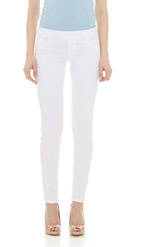 3871311bbdb9 Suko Jeans Pull On Power Stretch Skinny Jeans for Women 16801 White 10