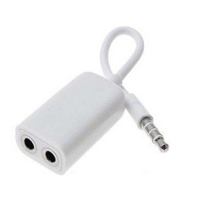 apple headphone adapter. click to connect 3.5 mm dual jack stereo headphone adapter for apple iphone - white a