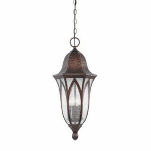 Designers Fountain 20634-BAC Berkshire Hanging Lanterns, Burnished Antique Copper Distressed Copper Outdoor Pendant