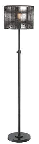 Lite Source Drum - Lite Source Hamilton Black Metal Grid 1-Light Floor Lamp