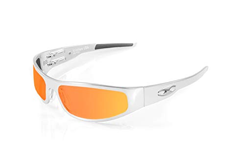 ICICLES Baby Bagger Orange Mirror Lens Sunglasses with Chrome Frame