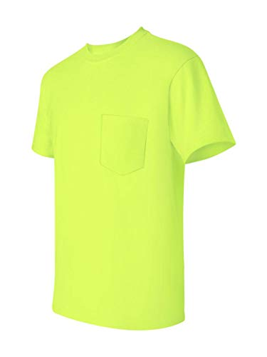 ( Gildan Ultra Cotton - Short-Sleeve T-Shirt with Pocket. 2300 - XX-Large - Safety Green)