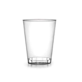 Conjunto de 60 vasos de 200ml elaborados el plástico rígido.