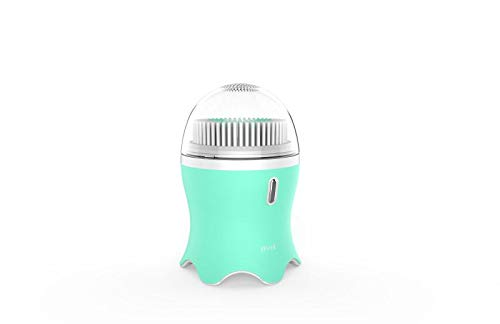 Facial Cleansing Brush with 2 Oversized Brush head for Women,MANFLY Acoustic vibration Waterproof Rechargeable Cleansing Face Brush for Deep Cleansing Gentle Exfoliating Massaging