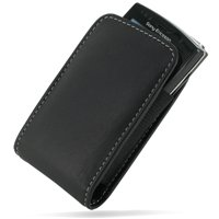 Sony Ericsson Slide (PDair Leather Cover for Sony Ericsson Xperia X10 mini Pro - Vertical Pouch Type (Black))