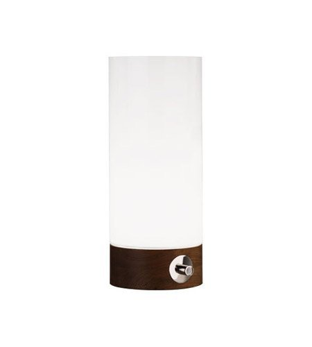 Robert Abbey WH737 Lamps with White Cased Glass Shades, Walnut Wood Base Finish