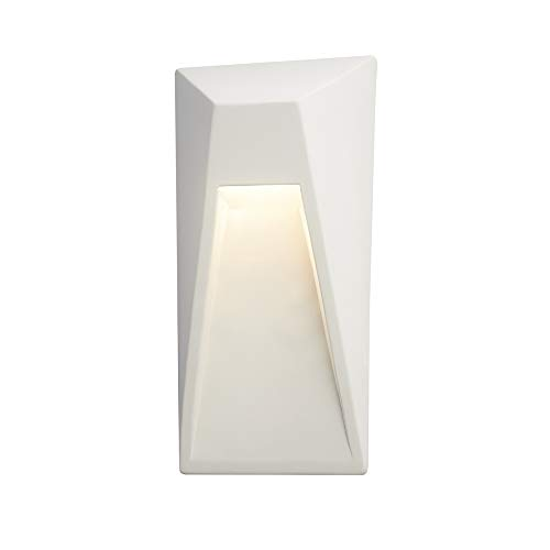 Justice Design Group Lighting CER-5680W-BIS Vertice Wall Sconce, (Kitchen Fixture Bisque)