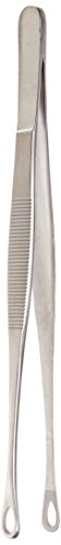 TAMSCO Russian Tissue Forceps 8-InchStainless Steel Blunt Point Serrated Tip Grove Handle 8-Inch by Tamsco