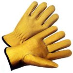 Top Grain Cowhide Leather Work Gloves with Split Leather Back, Sold by Dozen - X-Large