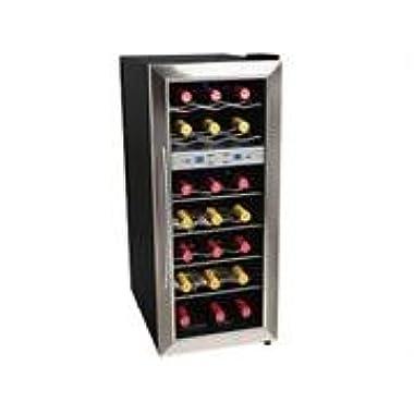 EdgeStar 21 Bottle Freestanding Dual Zone Stainless Steel Wine Cooler