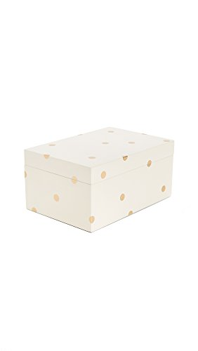Kate Spade New York Women's Dots Jewelry Box, Gold Dot, One Size