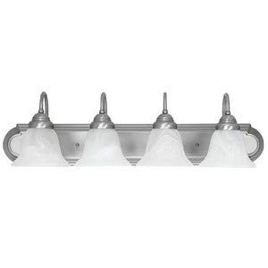 Capital Lighting 1164MN-118 4-Light Vanity Fixture, Matte Nickel Finish with Faux White Alabaster Glass