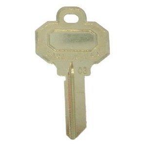 Kaba Ilco Corp Baldwin 5 Pin Key Blank  Pack Of 10  151 Key Blank Lockset