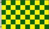 Yellow Checkered Flag - Green & Yellow Checkered Flag (3x5ft)