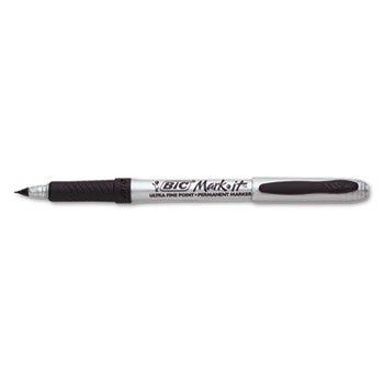 - BIC GPMU11BK Marking Ultra-Fine Tip Permanent Marker, Tuxedo Black, Dozen