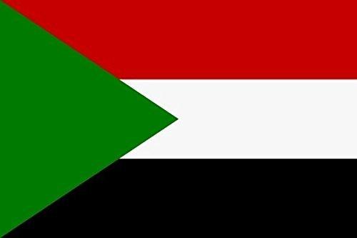 U24 Drapeau du Soudan haute qualité pour bateau drapeau 150 x 250 cm
