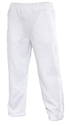Funny Guy Mugs Retro Tearaway Sweatpants - Premium Breakaway Pants (White, Small)